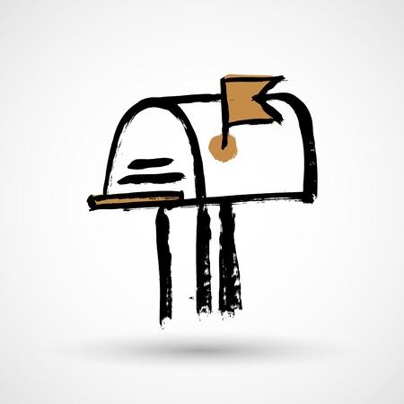 Mail box grunge icon