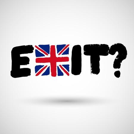 Brexit Design Concept Devoted United Kingdoms EU Referendum