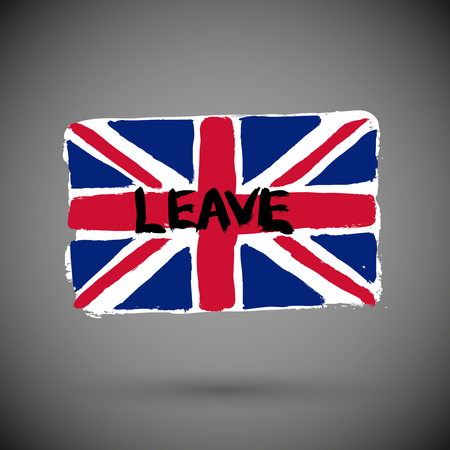 Brexit leave or remain concept about UK (United Kingdom or British) withdrawal from the EU (European Union) often shortened to Brexit.