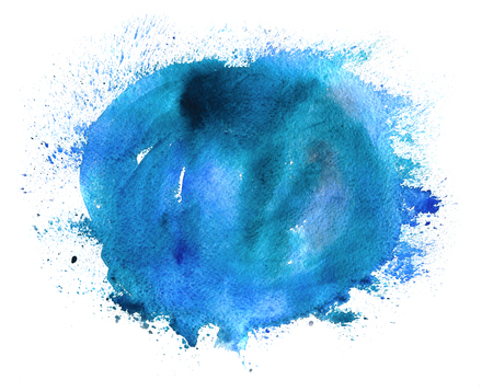 Hand paint watercolor winter abstract background. Perfect hand paint background for invitations, cards, textile, fabric or for any other kind of design. Stock Photo