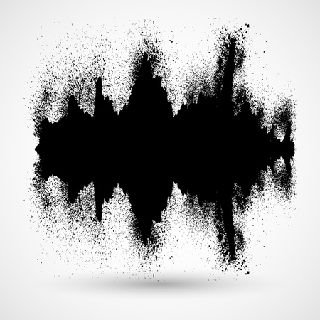 equalize: Black music sound waves. Audio technology, musical pulse.