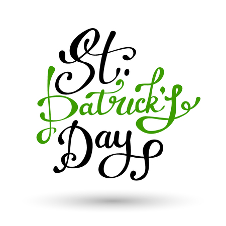 Vector illustration of Happy Saint Patricks Day  .St.Patricks Day celebration design.Happy St.Patricks lettering typography. Hand sketched St.Patricks Day icon. St.Patricks beer festival badge Illustration
