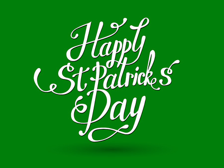 Vector illustration of Happy Saint Patricks Day  .St.Patricks Day celebration design.Happy St.Patricks lettering typography. Hand sketched St.Patricks Day icon. St.Patricks beer festival badge Illustration