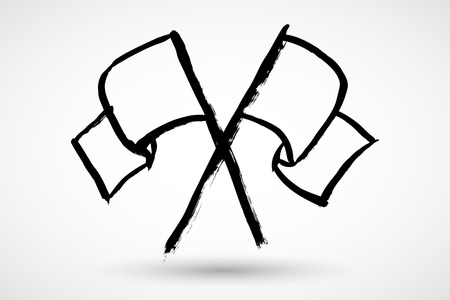raise the white flag: White flag grunge icon