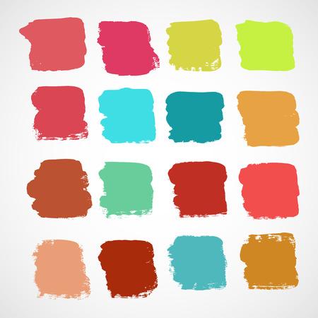 brushstroke: Set of ink vector stains Illustration