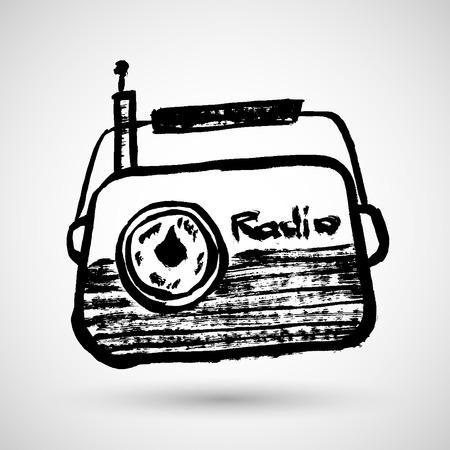 fm: Vector radio icon