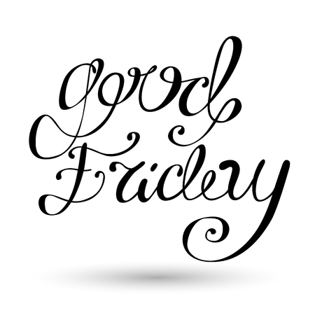 Good Friday Lettering Calligraphy Vector Sign Illustration