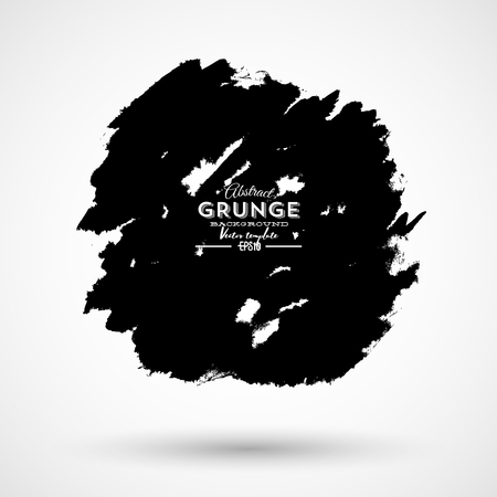 Abstract grunge banner for design use. Black grunge banner. Vector illustration.