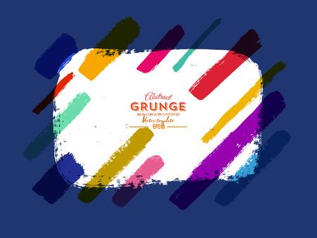 Colorful grunge banner. Vector illustration.