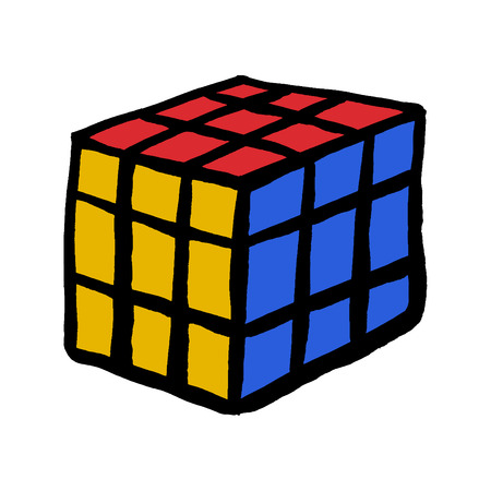 Kiev, Ukraine - June 06, 2017 : Rubik's cube on the white background. Rubik's Cube on a white background. Rubik's Cube invented by a Hungarian architect Erno Rubik in 1974
