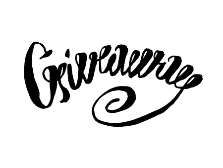 choise: Giveaway banner for social media contests and special offer. Vector black ink brush lettering at white background. Modern calligraphy style.