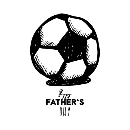 Happy Fathers Day greeting card design for mens event, banner or poster. Vector postcard illustration