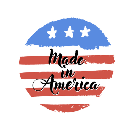 Made in USA sign. Vector illustration