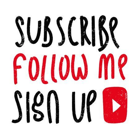 You tube video channel player. Vlog or video blogging or video channel signs grunge set. Vector illustration. Flat Social Media Background Sign Download.