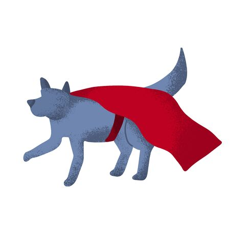 Cartoon Superhero Dog vector illustration, in fun pose  イラスト・ベクター素材
