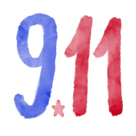 Patriot day USA Never forget 9.11 vector poster. Patriot Day, September 11, We will never forget 向量圖像