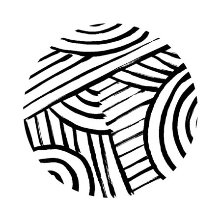 Hand drawn scribble circle, vector design element. Doodle hand-drawn grunge style.