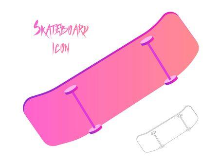 Wheel skateboard icon. Outline wheel skateboard icon for web design isolated on white background. Gradient modern trendy design. Skateboarding symbol