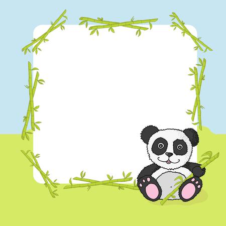 Cartoon panda with frame Illustration