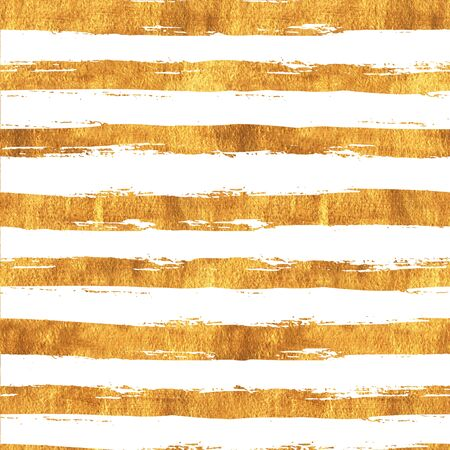 Seamless pattern with hand painted gold lines. Watercolor golden trendy modern art wallpaper. Fashion style background with art brush stroke perfect for fabric textile and wrapping paper