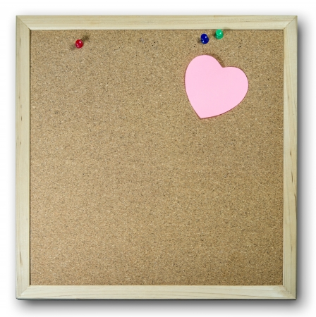 Pink paper note background cork board photo