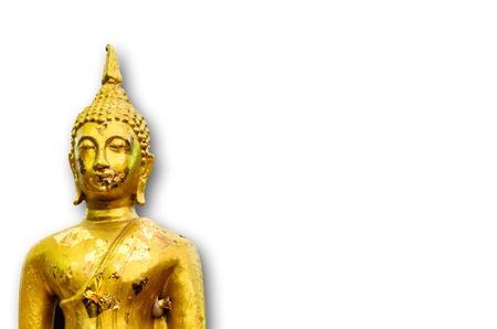 budda: Old Thai Golden Budda Stock Photo