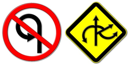 don't: don t U-Turn and Juntions