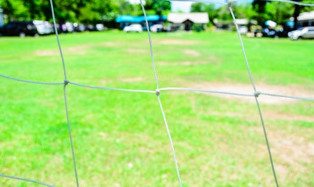 Behind of Goalkeeper Net photo
