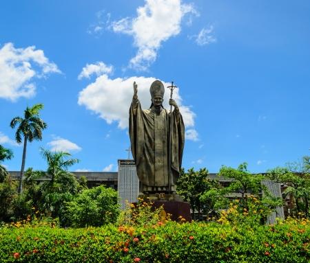 paulus: John Paul II pope Statue at Thailand Editorial