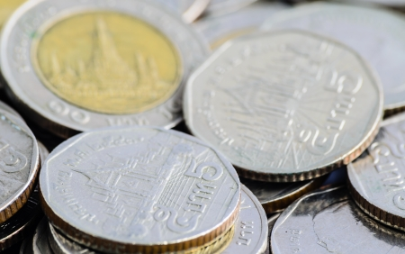 nickle: Zoom View of Thai Coin Stock Photo