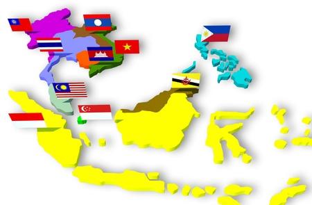 asean: AEC, ASEAN Economic Community Stock Photo