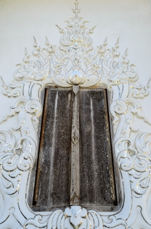 Old Door at Wat Rong Khun, Chiang Rai Province, Thailand, Photo on January 07, 2014 photo
