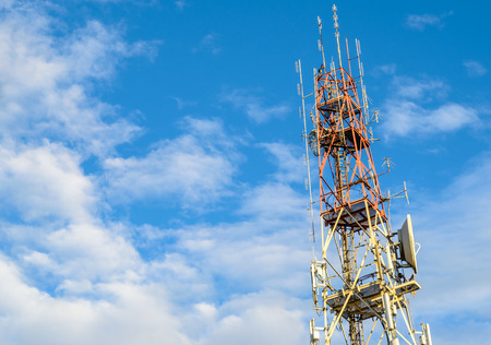 Telecommunication Towers with Blue Sky,Photo takeitn on  December 10, 2013 photo