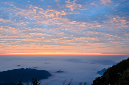 Great Smoky Mountains Sunrise Landscape in Thailand,Photo takeitn on  December 08, 2013 photo