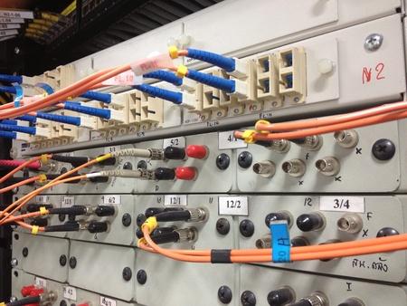 cabling: Fiber Optic Cabling Stock Photo