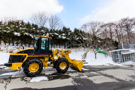 Snow Loaders in winter snow photo