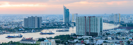 View of Bangkok Cityscape photo