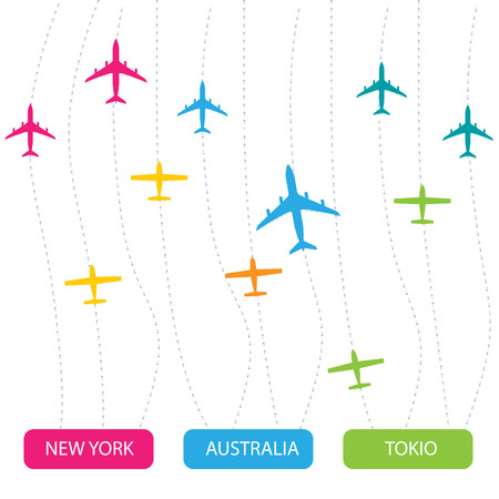 airplan: Vector image airplan Illustration