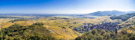 Aerial view Alsace Stock Photo