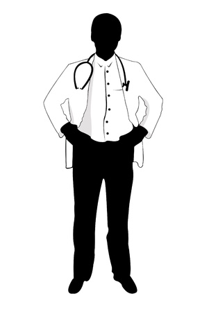 consultation: silhouette of a doctor