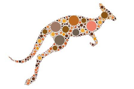 dotted kangaroo illustration Stock Vector - 10493092