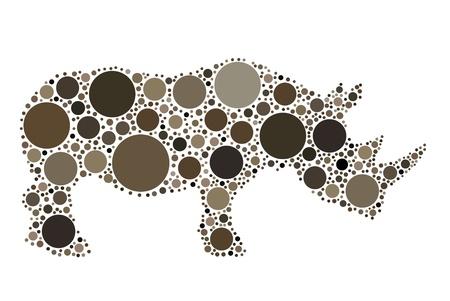 rhinoceros silhouette Stock Vector - 10493080