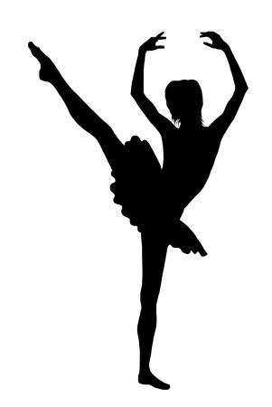 silhouette of a ballerina Illustration