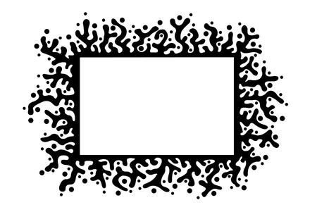 margins: floral frame Illustration