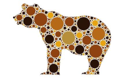 bear silhouette: orso silhouette tratteggiata