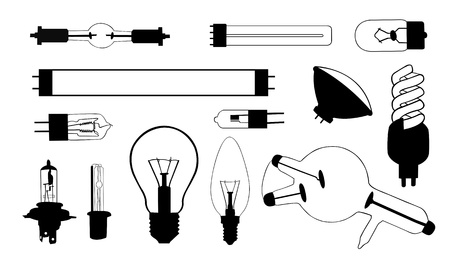 fluorescent tube: light bulb collage