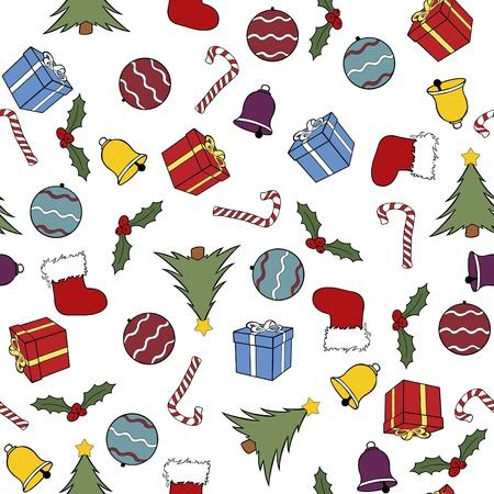 シームレスなクリスマス背景イラスト