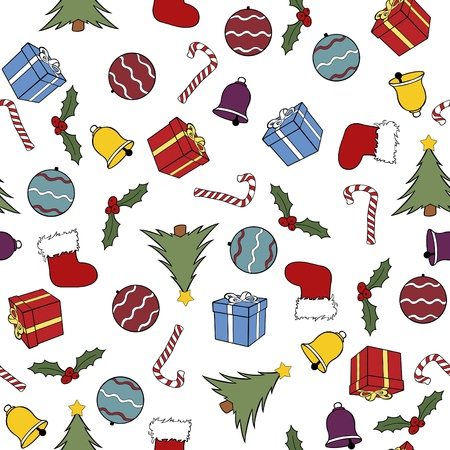seamless christmas background illustration Vector