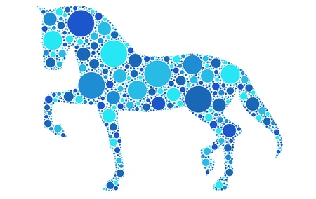 dotted horse silhouette Stock Vector - 10941820