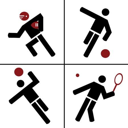 pallamano: lo sport illustrazione collage Vettoriali